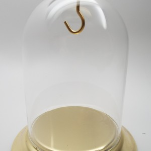 """3 x 4"""" Dome with Brass Knob and Brass Base"""