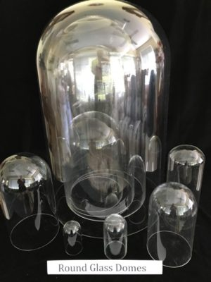 Antique Round Glass Domes